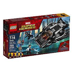 LEGO Superheroes ЛЕГО Оригинал Чёрная пантера Атака королевского истребителя  76100