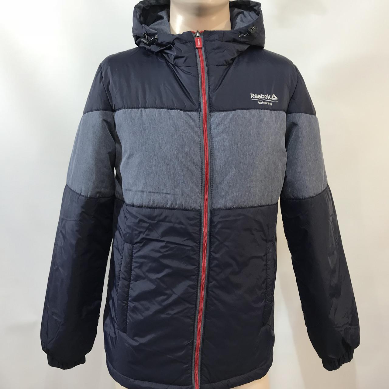 Куртка ветровка мужская в стиле Reebok демисезонная куртка