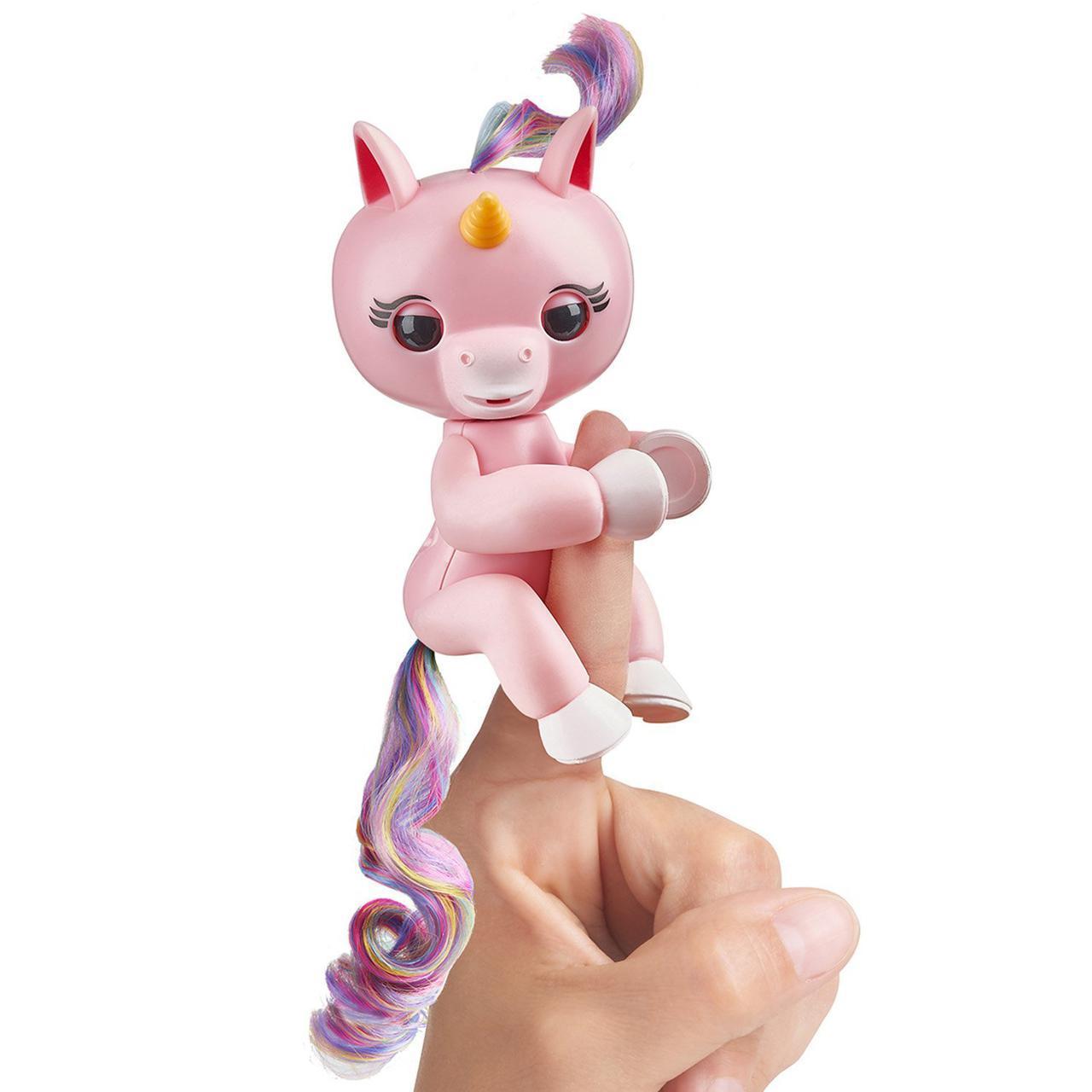 Оригинал Интерактивная игрушка фингерлинг Единорог Джемма Fingerlings Baby Unicorn - Gemma by WowWee