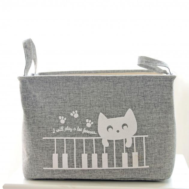 Корзина для игрушек на завязках Cat gray Berni (220762)