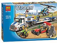 "Конструктор Bela 10422 ""Перевозчик вертолёта"" Сити, 410 деталей. Аналог LEGO City 60045"