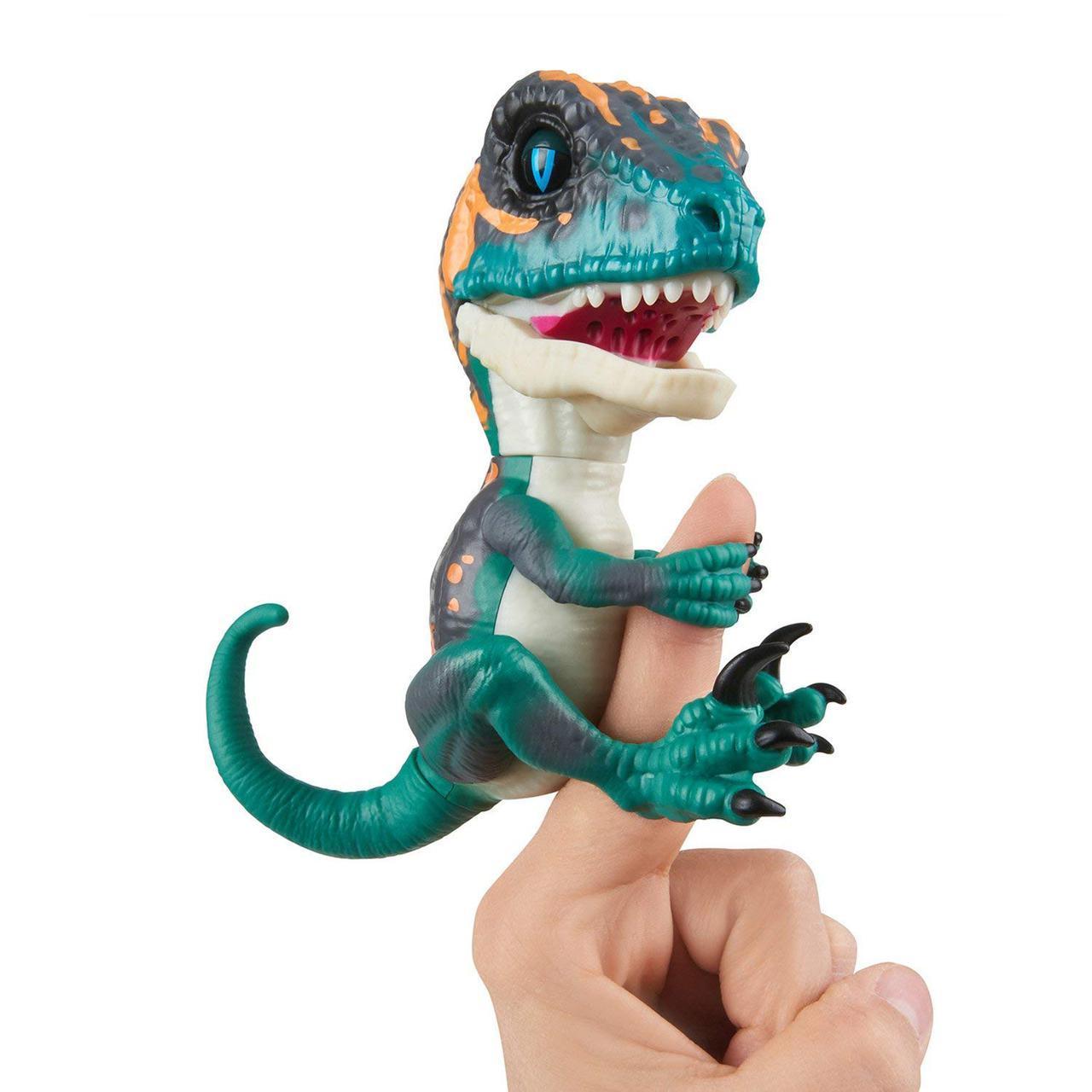 Оригинал Интерактивный коллекционный динозавр Фьёри фингерлинг Untamed Raptor by Fingerlings - Fury by WowWee