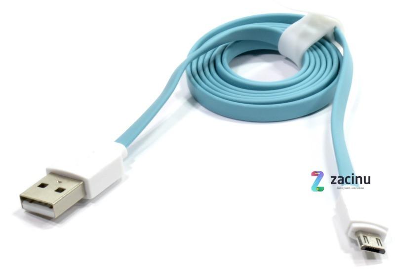 Кабель Rock USB-micro USB 100см Голубой (685347)