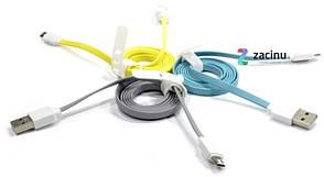 Кабель Rock USB-micro USB 100см Голубой (685347), фото 2