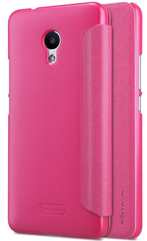 Чехол книжка Nillkin для Meizu M5s Sparkle ser. Розовый (137790)