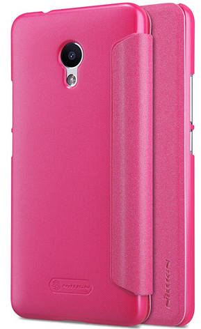 Чехол книжка Nillkin для Meizu M5s Sparkle ser. Розовый (137790), фото 2