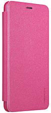 Чехол книжка Nillkin для Meizu M5s Sparkle ser. Розовый (137790), фото 3