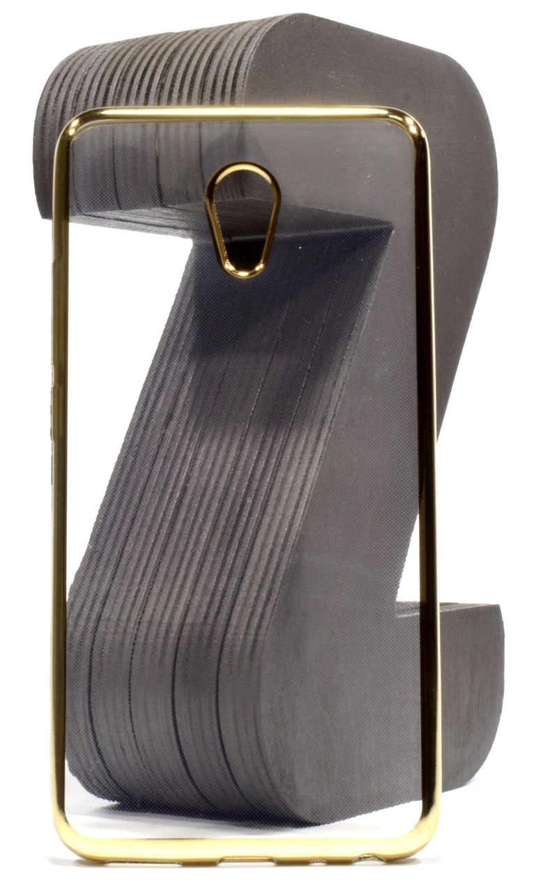 Чехол накладка для Meizu M5 Note Прозрачный / золотистый (340303)