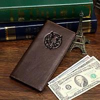 Купюрник мужской Vintage 14173 кожаный Коричневый, фото 1