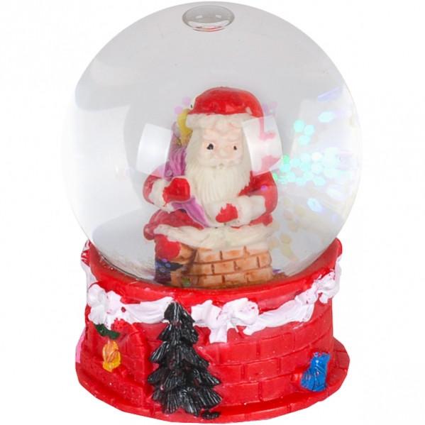 Шар метель «Дед Мороз, Снеговик» 65 мм светится