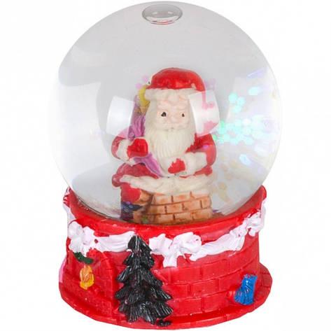 Шар метель «Дед Мороз, Снеговик» 65 мм светится, фото 2