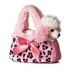 Мягкая игрушка Милый пудель в розовой сумочке Aurora World Pal Pretty Poodle Pink Pet Purse