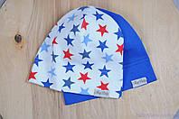 Набор трикотажных шапок, Звезды, 3 размера, 42-54 см, фото 1