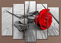 """Модульна картина """"Червона троянда"""""""