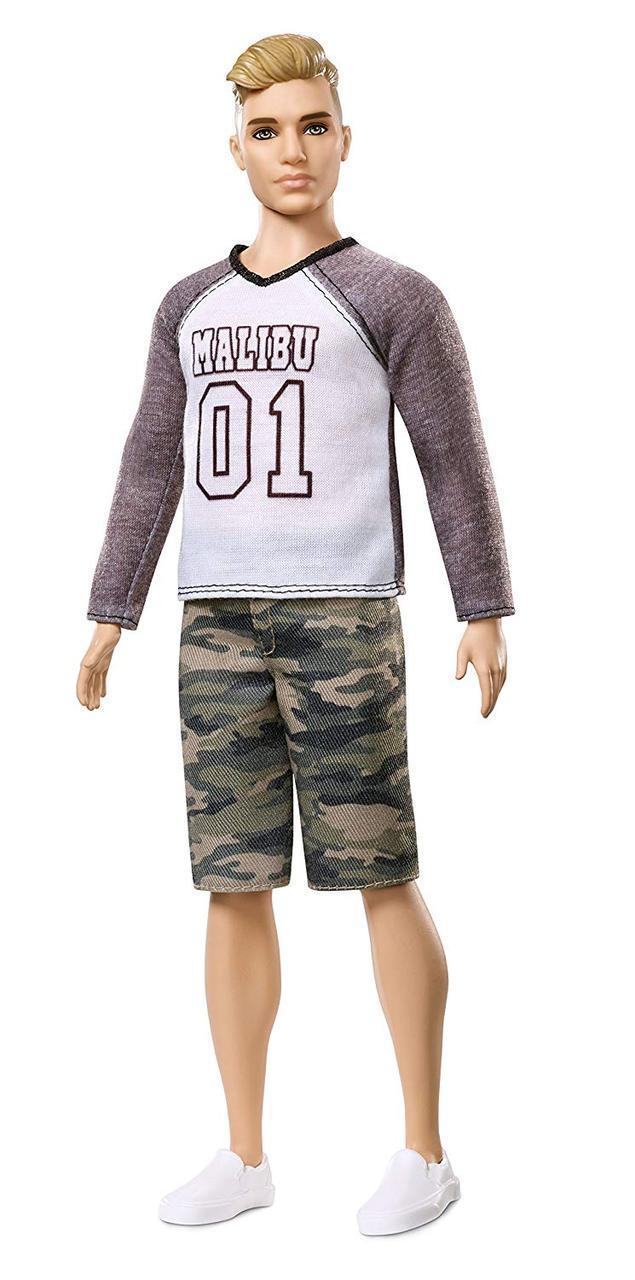 Стильный блондин Барби Кен модник Barbie Ken Fashionistas Camo Comeback