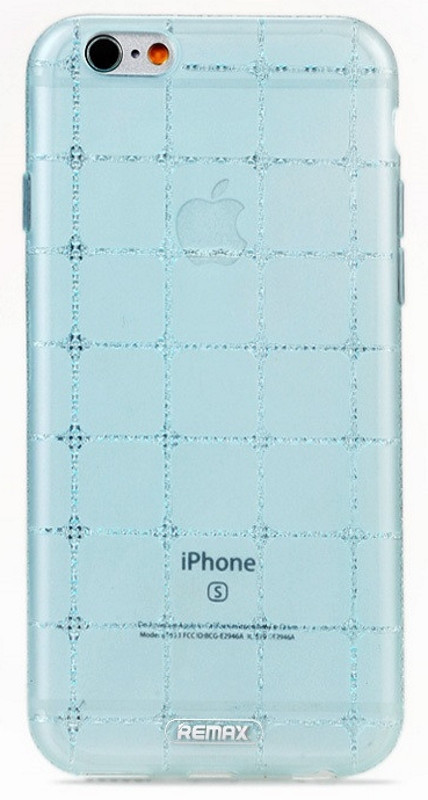 Чехол накладка Remax для iPhone 6 / 6S Ice Clear ser. Голубой (263243)