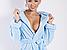 Халат женский махровый голубой DianaDK, фото 2