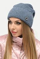 Стильна молодіжна синя шапка Helga