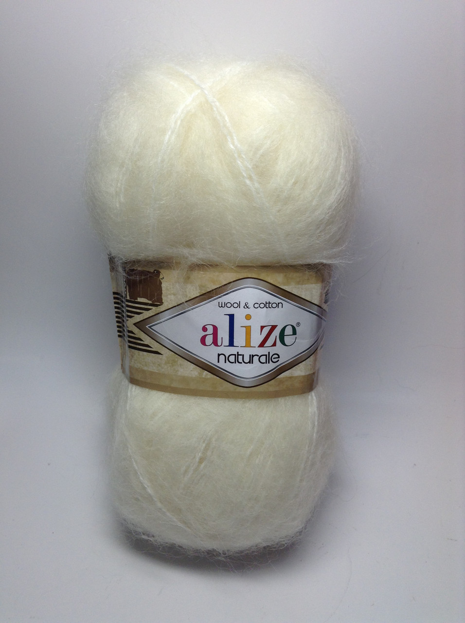 Пряжа naturale Alize wool & cotton