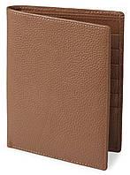 Кошелек SHVIGEL 13833 кожаный с отделениями для паспортов Рыжий, фото 1