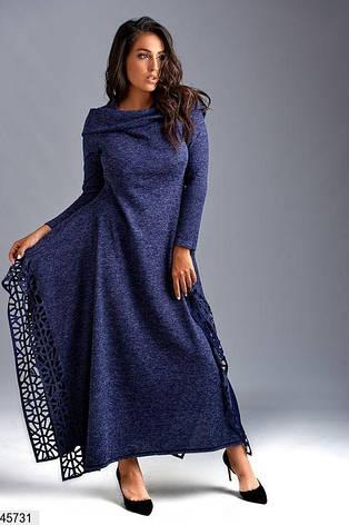 Стильное нарядное платье демисезонное большие размеры: 58,60,62, фото 2