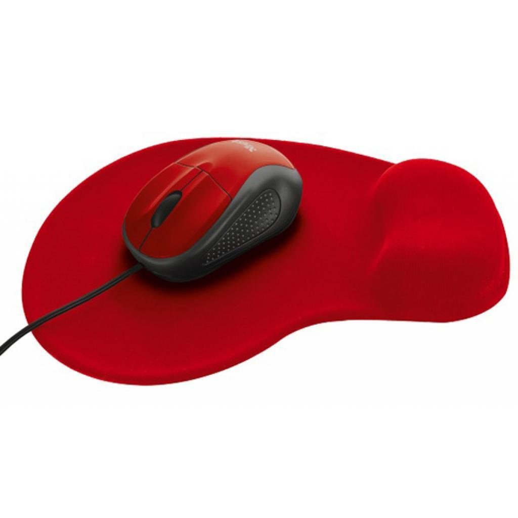 Мышка TRUST Primo Mouse with Mouse Pad Red (20427)