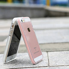 Чохол-накладка ROCK для iPhone 5/5S/SE Guard ser. TPU+PC Рожевий, фото 2