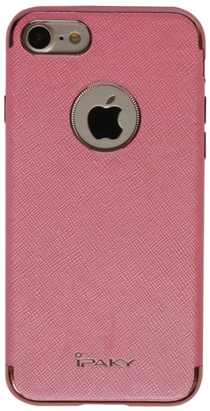 """Чехол накладка iPaky для iPhone 7 (4.7 """") Chrome ser. Розовый"""