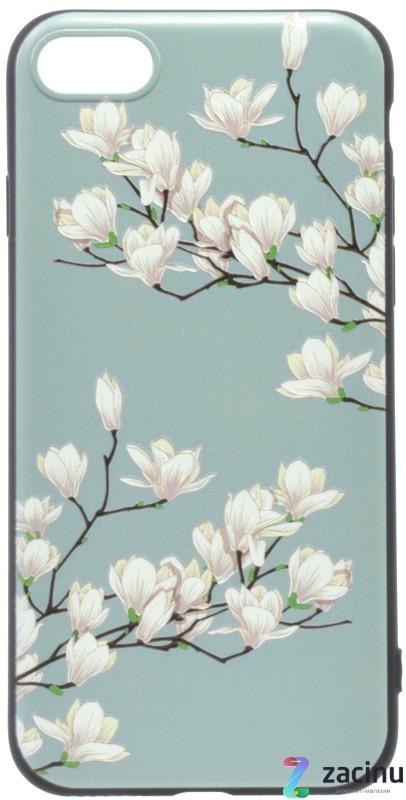 Чохол-накладка OMEVE для iPhone 7/ 8 Pictures ser. Магнолія Бірюзовий