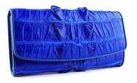 Кошелек из кожи крокодила синий