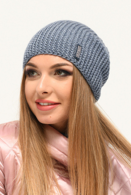 Жіноча молодіжна синя шапка Kinsly