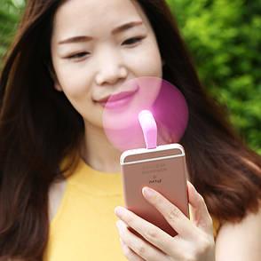 Вентилятор-портативный Remax F10 для Apple iPhone iPad Lightning Refon ser.розовый, фото 2