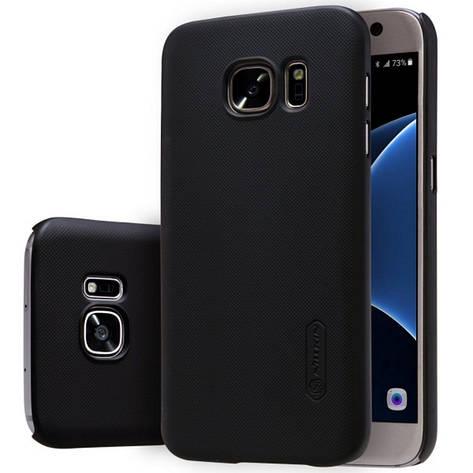 Чохол-накладка Nillkin для Samsung G930F S7 Matte ser. +плівка Чорний, фото 2