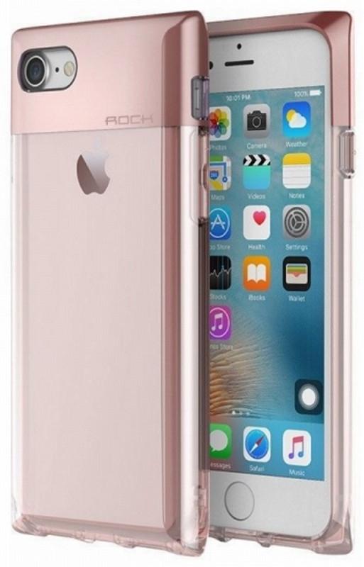 "Чехол накладка ROCK для iPhone 7 (4.7 "") Crystal ser. TPU + PC Розовый (648205)"