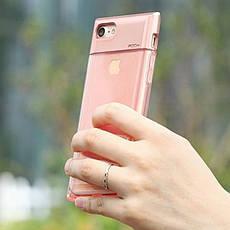 "Чехол накладка ROCK для iPhone 7 (4.7 "") Crystal ser. TPU + PC Розовый (648205), фото 2"