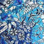 10457-13, павлопосадский шарф-палантин шерстяной (разреженная шерсть) с осыпкой, фото 7