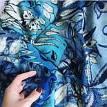 10457-13, павлопосадский шарф-палантин шерстяной (разреженная шерсть) с осыпкой, фото 6