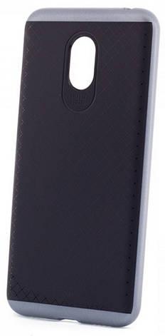 Чехол накладка iPaky для Meizu M3 Note TPU + PC Черный / серый, фото 2