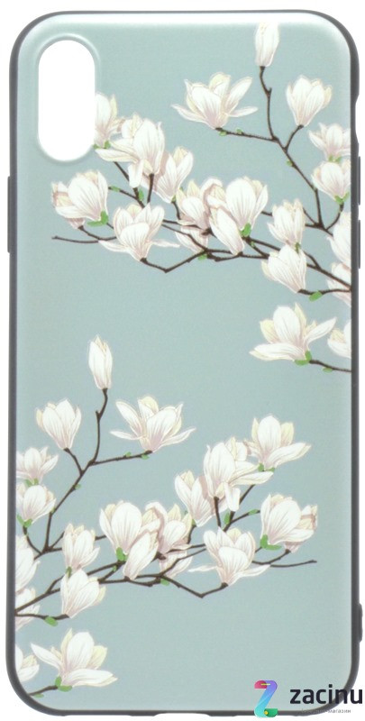 "Чохол-накладка OMEVE для iPhone X (5.8"") Pictures ser. Магнолія Бірюзовий"