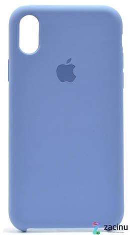 "Чохол-накладка для iPhone X (5.8"") Silicon Case ser. (veri high copi) Синій(Pale Blue), фото 2"