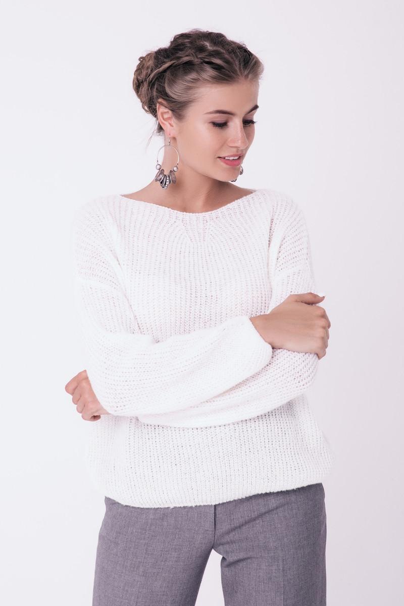 Женския теплый вязаний свитер джемпер