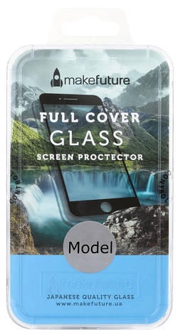 Захисне Скло Make Future Xiaomi Redmi Note 5A Full Cover ser. Прозорий/ чорний, фото 2