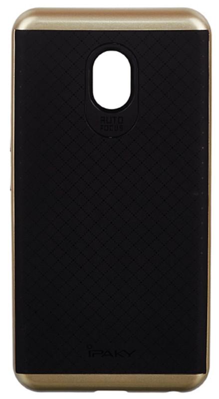 Чохол-накладка iPaky для Meizu M5 TPU+PC Чорний/золотистий(343823)
