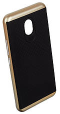Чохол-накладка iPaky для Meizu M5 TPU+PC Чорний/золотистий(343823), фото 2