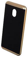Чохол-накладка iPaky для Meizu M5 TPU+PC Чорний/золотистий(343823), фото 3