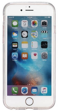 Чохол-накладка Remax для iPhone 6/6S Glitter Play ser. TPU+PC Малюнок Круги Сріблястий(QW-09), фото 2