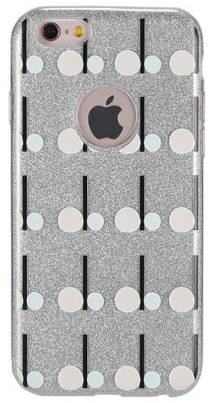 Чохол-накладка Remax для iPhone 6/6S Glitter Play ser. TPU+PC Малюнок Круги Сріблястий(QW-09)