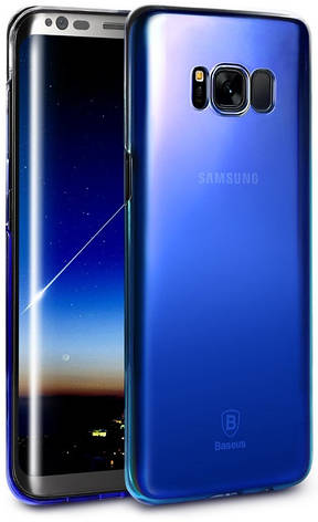 Чохол-накладка Baseus WISAS8P-RL03 для Samsung G955 S8 Plus Glaze Ultrathin ser. Синій, фото 2