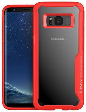 Чохол-накладка iPaky для Samsung G950 S8 Luckool ser.TPU+PC Червоний(355802), фото 2