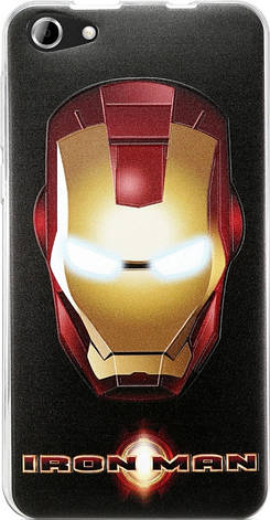 Чохол-накладка Utty для Nomi ECi5030 Legendary Heroes TPU Iron Man Чорний, фото 2